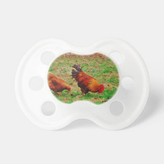 Rooster and Hen Pacifier