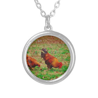 Rooster and Hen Pendants