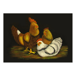 Rooster and Hens ~ ATC Large Business Cards (Pack Of 100)