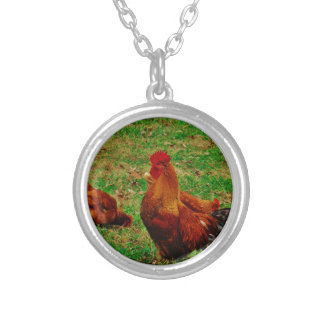 Rooster  and his chick pendant