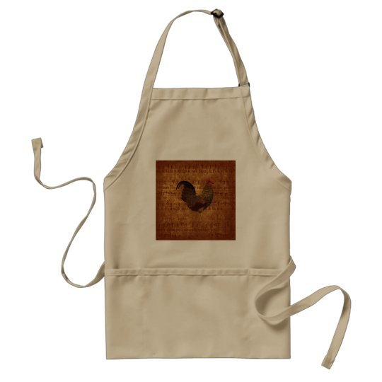 Rooster and Music Adult Apron