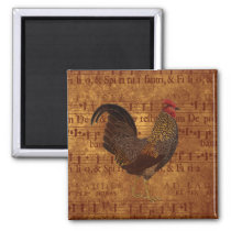 Rooster and Music Magnet
