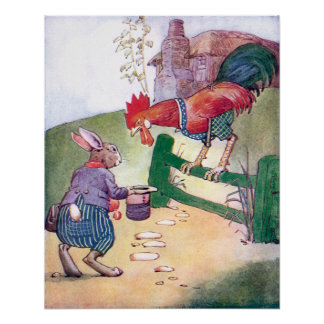 Rooster and Rabbit Chat Poster