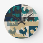 Rooster Art Design Round Wall Clocks
