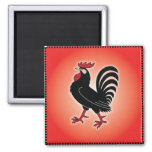 Rooster Attitude 2 Inch Square Magnet