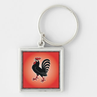Rooster Attitude Keychain