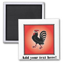 Rooster Attitude Magnet
