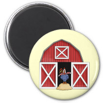 Rooster Barn Magnet