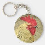 Rooster Basic Round Button Keychain