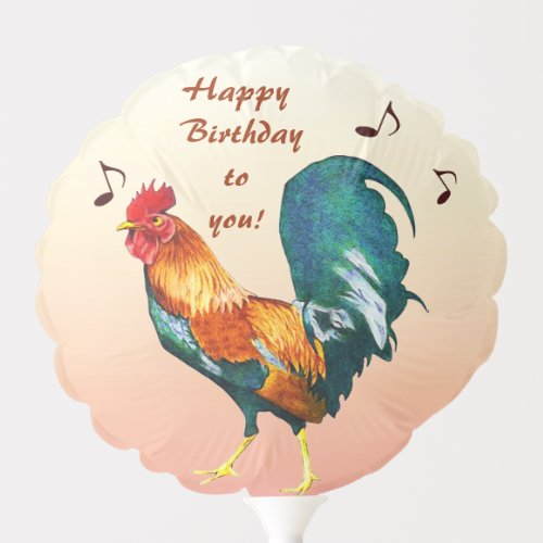 Rooster Bird Animal Birthday Balloon
