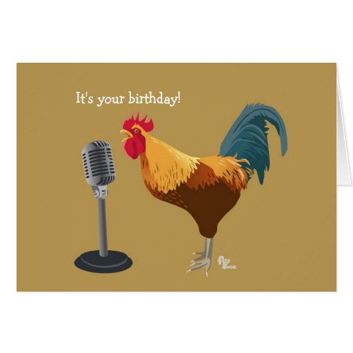 Rooster Birthday Card | Zazzle