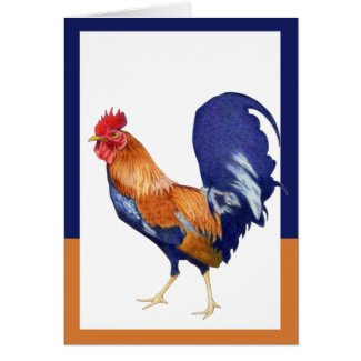 Rooster border Card