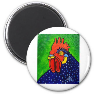 ROOSTER by Piliero 2 Inch Round Magnet