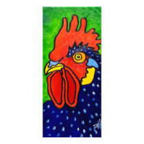 ROOSTER by Piliero Rack Card