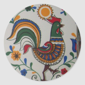 rooster caixa.JPG Classic Round Sticker