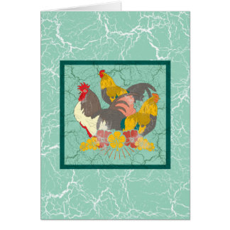Rooster Card