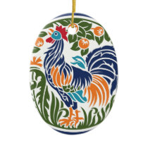Rooster Ceramic Ornament