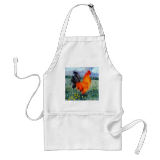 Rooster Chicken Art Adult Apron