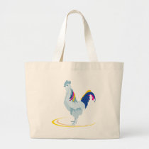 rooster chicken cartoon large tote bag