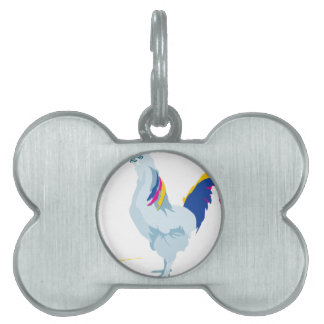 rooster chicken cartoon pet ID tag