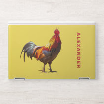 Rooster Chicken Fun Personal Yellow HP Laptop Skin