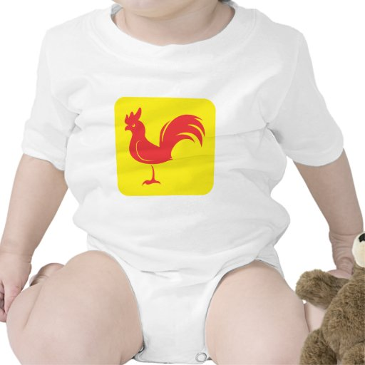 Rooster Chicken Icon Romper
