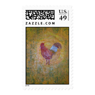 Rooster Chicken Stamp
