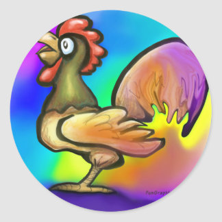 Rooster Classic Round Sticker