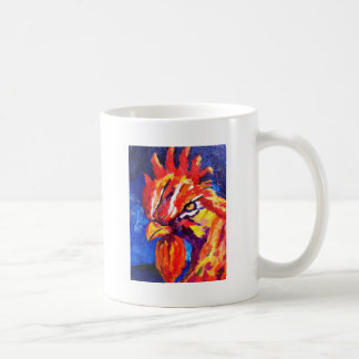 Rooster Classic White Coffee Mug