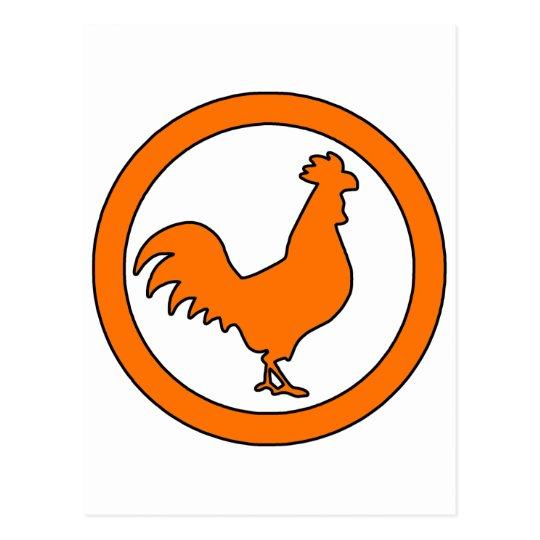 Rooster Cock Hen Chicken Silhouette Male Farm Egg Postcard