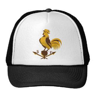 rooster cockerel crowing retro trucker hat