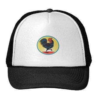 Rooster Cockerel Marching Side Retro Trucker Hat