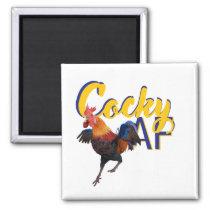 Rooster : Cocky AF humor Magnet
