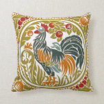 Rooster College Throw Pillows