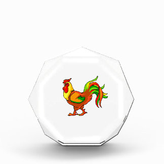 rooster colorful tail green red graphic.png award