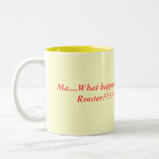 rooster cooks, Two-Tone coffee mug
