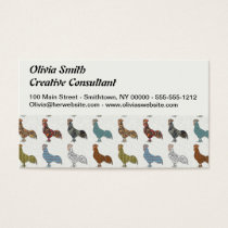 Rooster Country Pattern Business Card