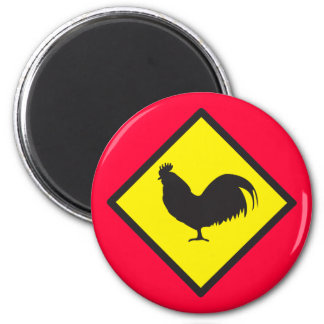 ROOSTER crossing 2 Inch Round Magnet