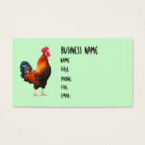 Rooster Crowing Business Cards