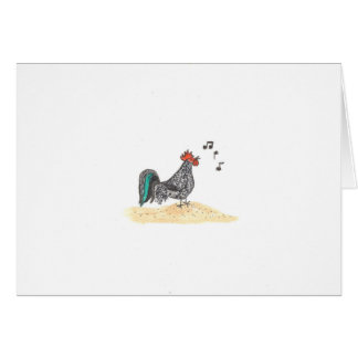 Rooster Crowing Card