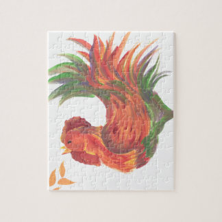 Rooster Crowing Jigsaw Puzzle