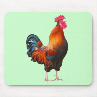 Rooster Crowing Mousepad