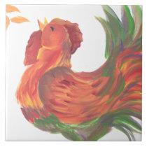 Rooster Crowing Tile Trivet