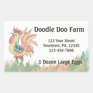 Rooster Custom Eggs Sticker