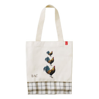 Rooster Custom Zazzle HEART Tote