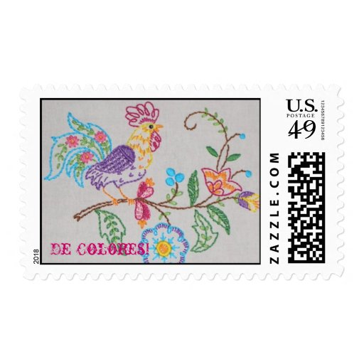 Rooster, De Colores! Stamps