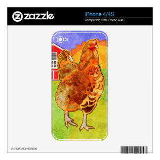 Rooster Decal For The iPhone 4