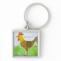 Rooster DeColores Keychain