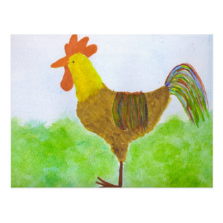 Rooster ~ DeColores Postcard