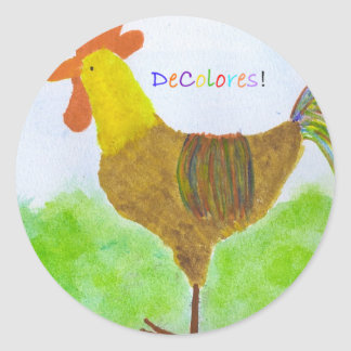 Rooster  DeColores Stickers